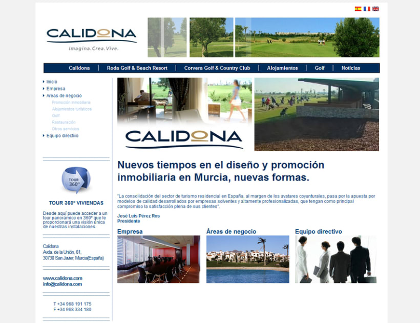 Web Corporativa Calidona 2
