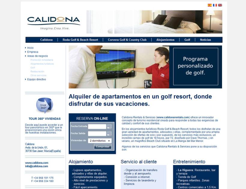 Web Corporativa Calidona 3