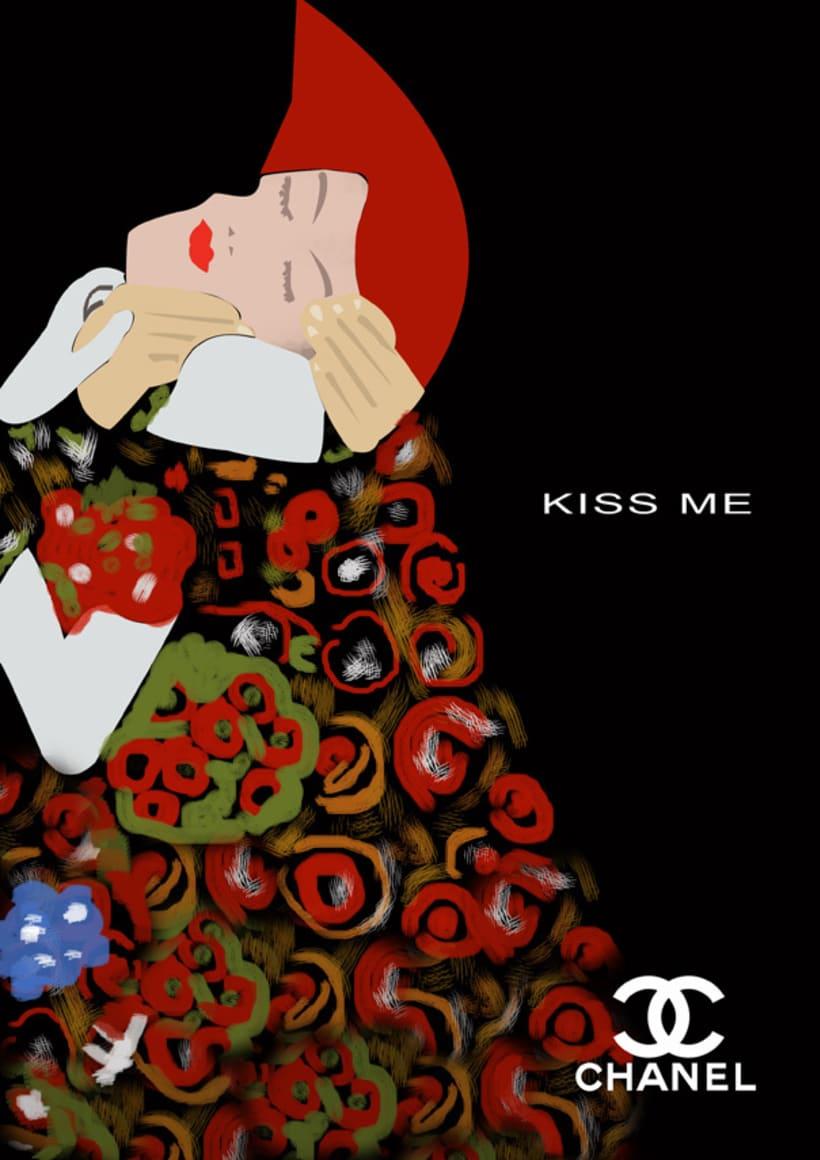 chanel y el beso 1