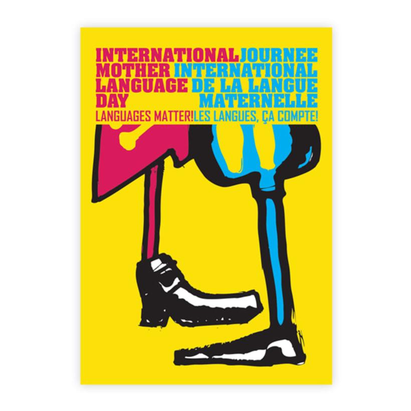 Cartel, Dia internacional de la lengua materna 1