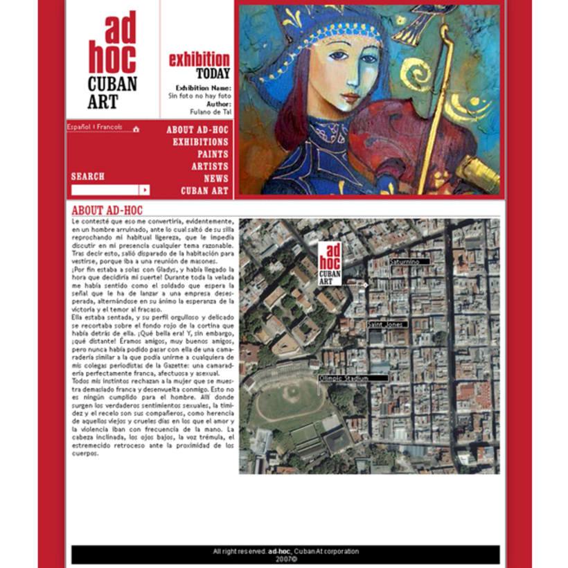 Sito web. AD HOC, Arte contemporáneo cubano 2