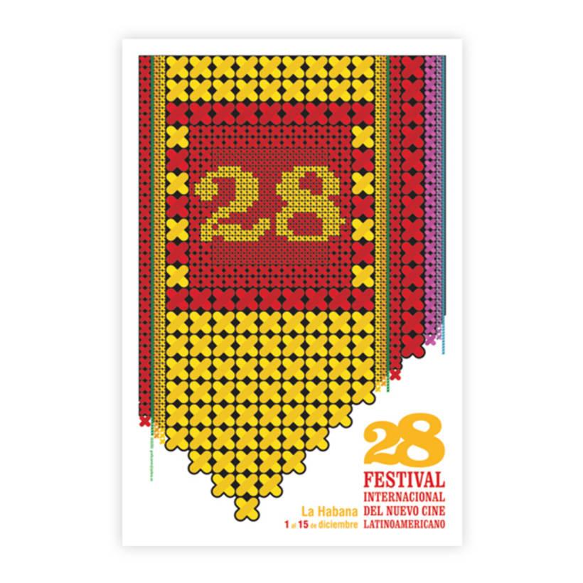 Cartel Promocional. 28 Festival Internacional del Nuevo Cine Latinoamericano 1