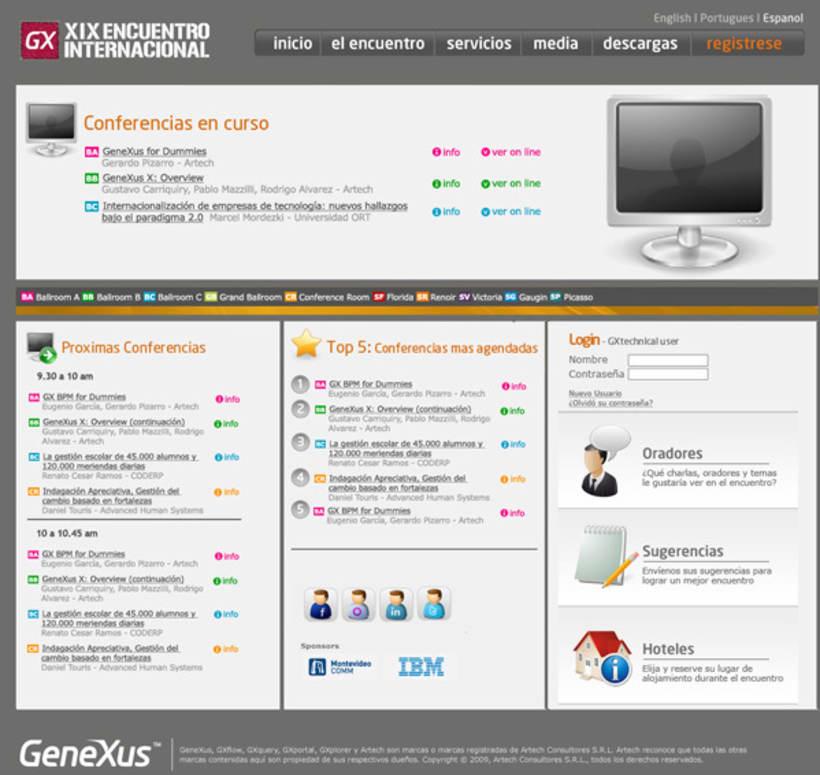Sitio e imagen XIX Encuentro GeneXus 3