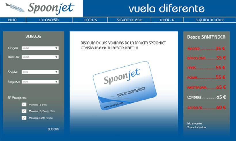 Diseño para web Línea Aérea SPOONJET 1