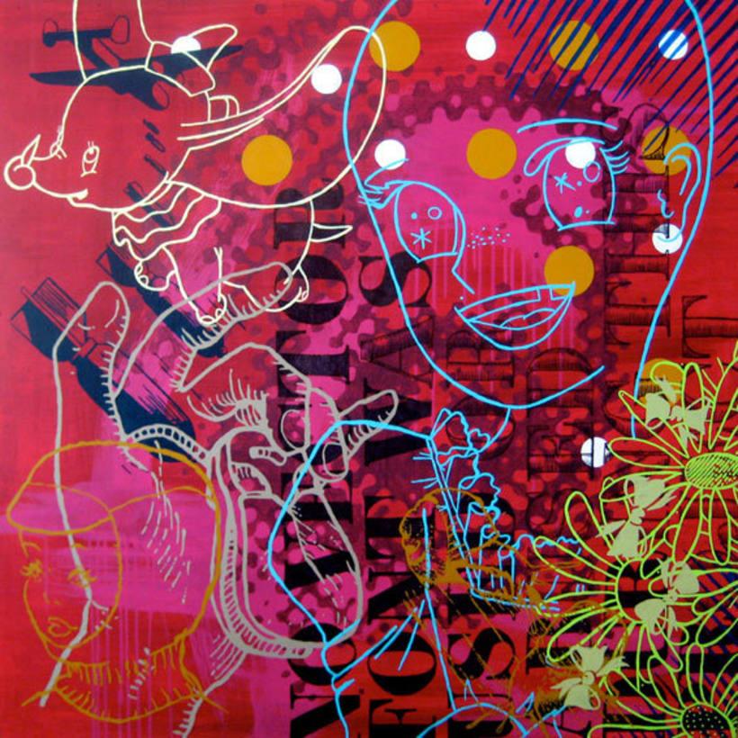 Pintura. Mediodía en el jardín del Bien y del Mal 1