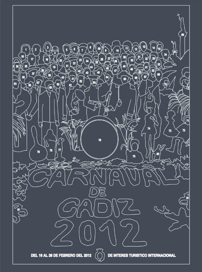 propuesta cartel carnaval 2012 cádiz 2