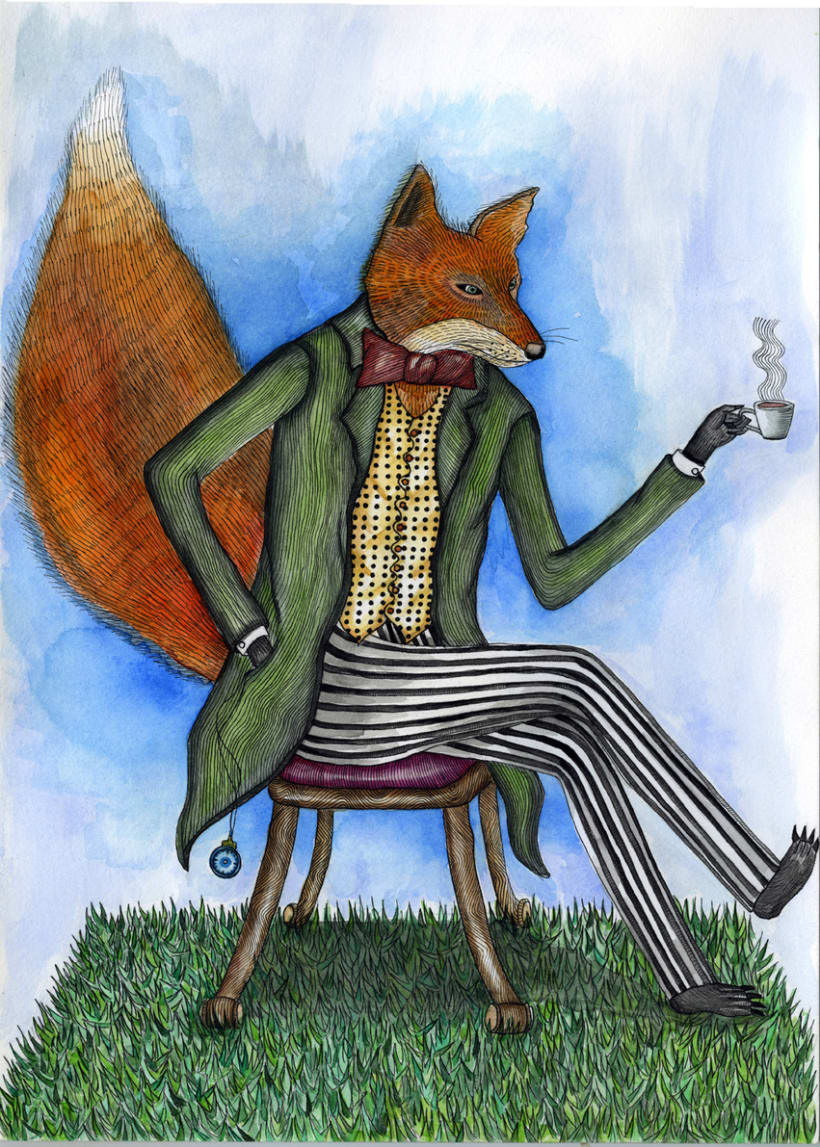 Elegant English Fox 1