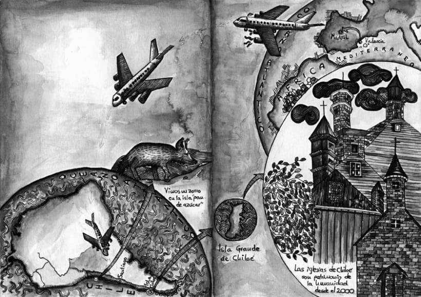 "illustration for the exhibition ""Travelogue"" Valencia Book Fair 10 1"