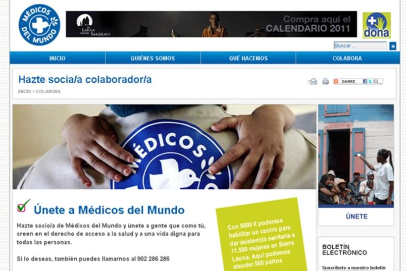 web de Médicos del Mundo - España 1