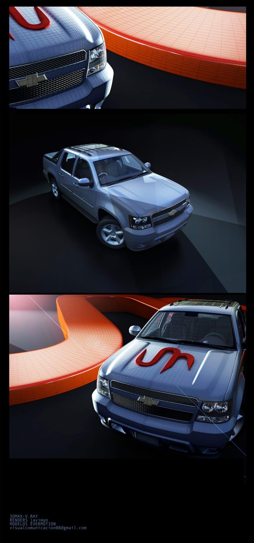 Simulación 3D de Chevrolet PikUp 1
