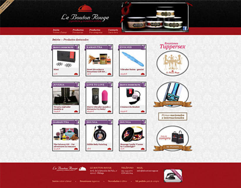 Sitio web Le Bouton Rouge 1