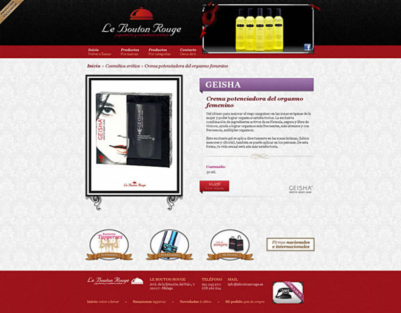 Sitio web Le Bouton Rouge 2