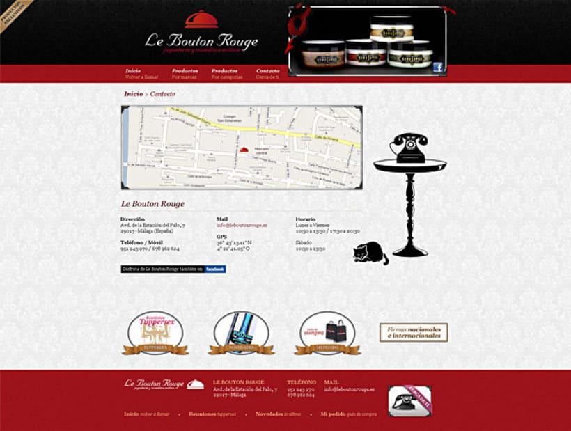 Sitio web Le Bouton Rouge 3