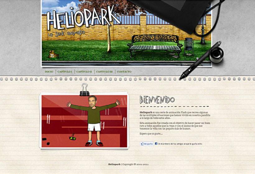 Sitio web Heliopark 1