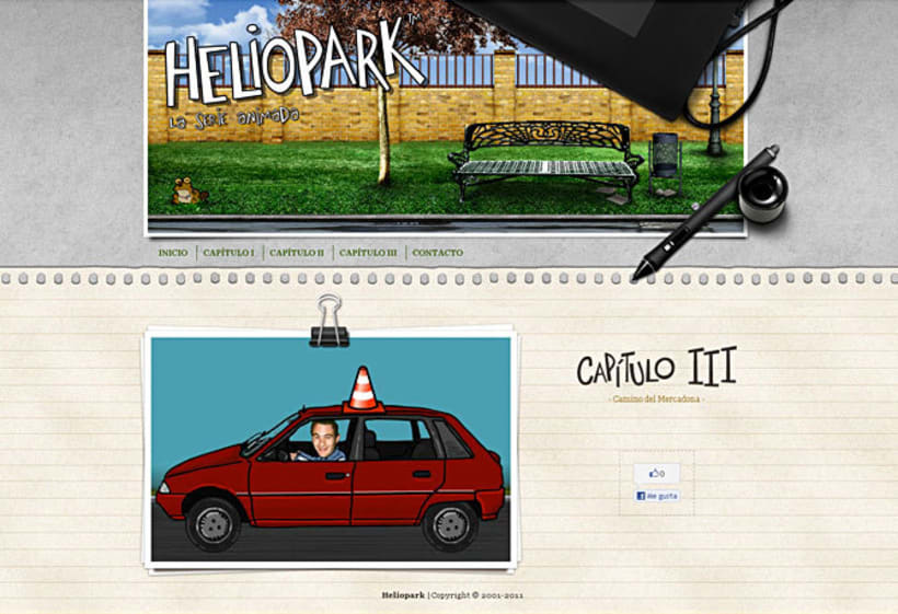 Sitio web Heliopark 2