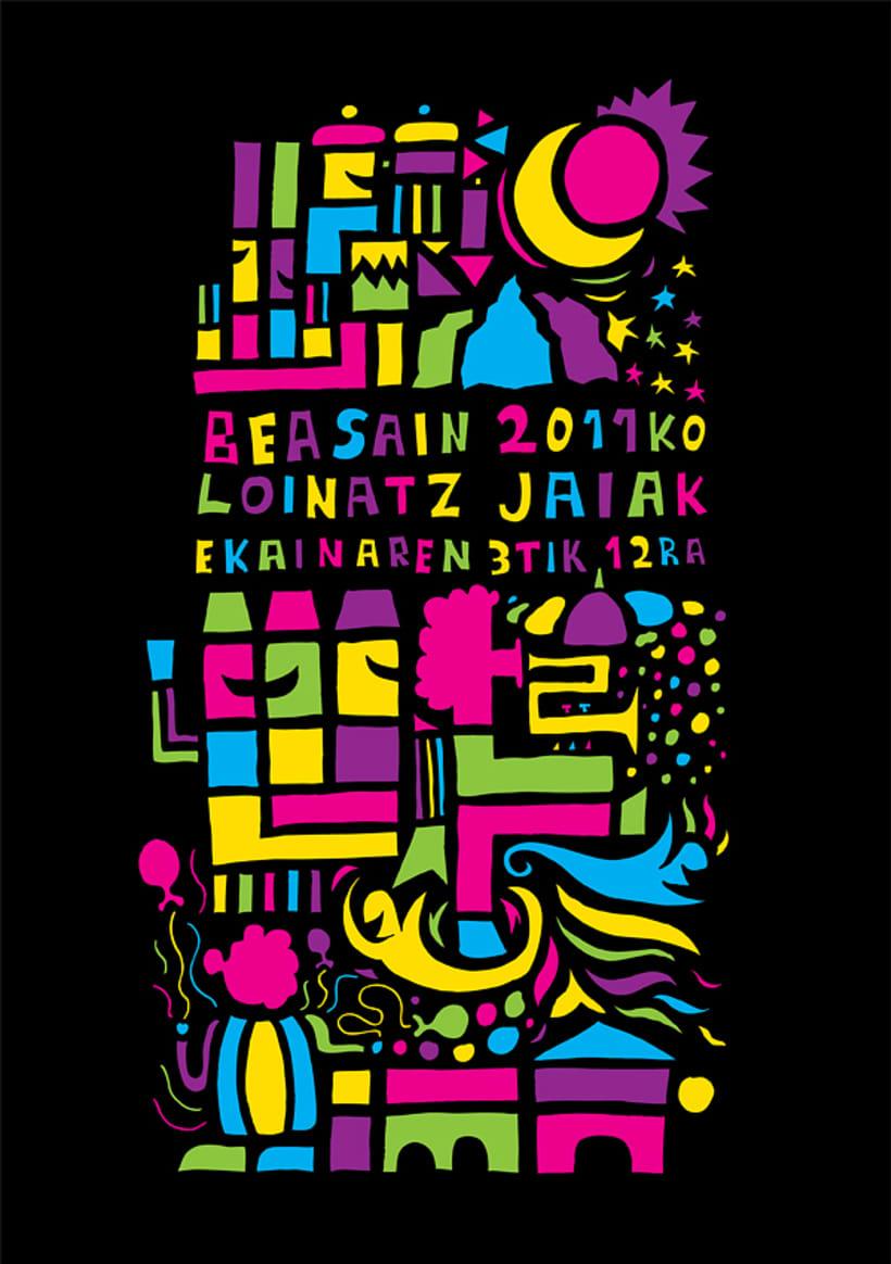Cartel Loinatz Jaiak 2011 Beasain 2