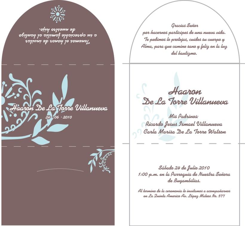 Diseño Invitación Bautizo 1