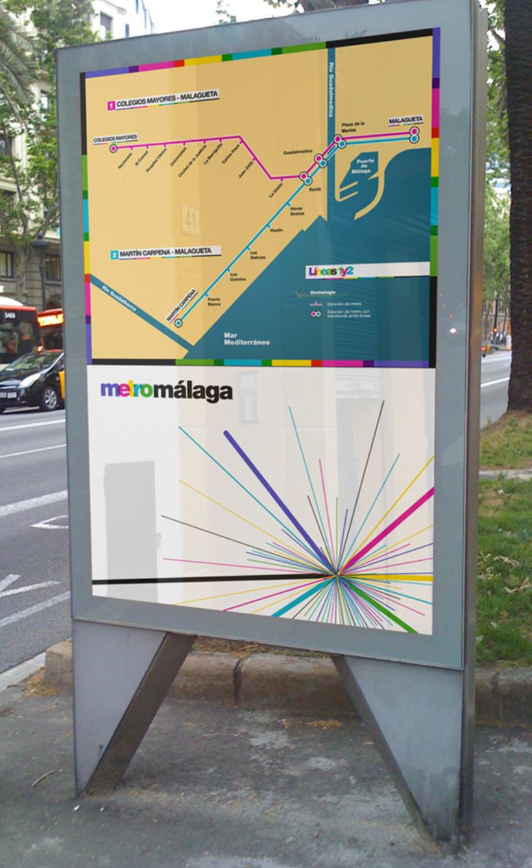 Metro Málaga. Proyecto personal de Marca y Sistema de Identidad. Comunicación y gestión de marca. 13