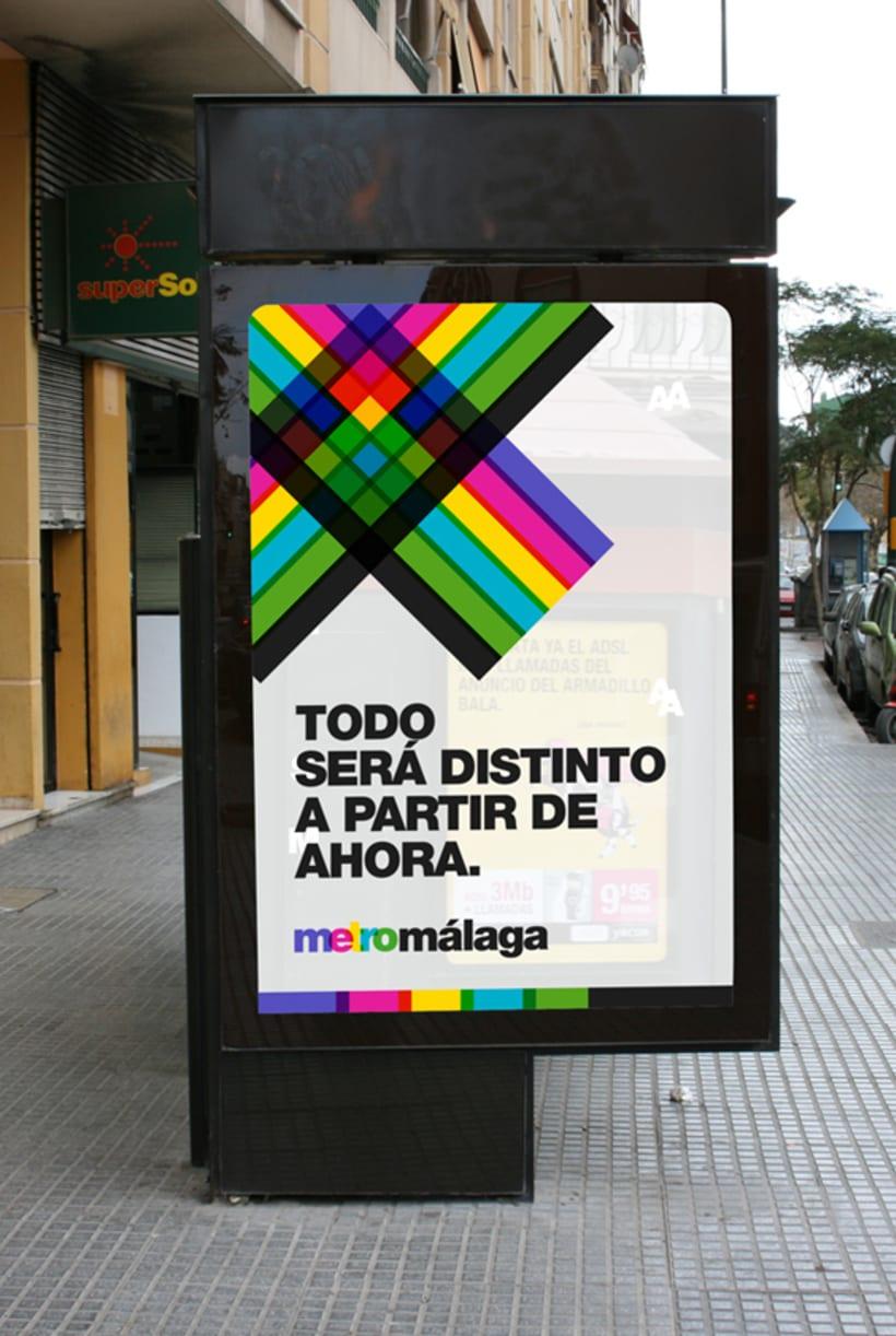 Metro Málaga. Proyecto personal de Marca y Sistema de Identidad. Comunicación y gestión de marca. 4