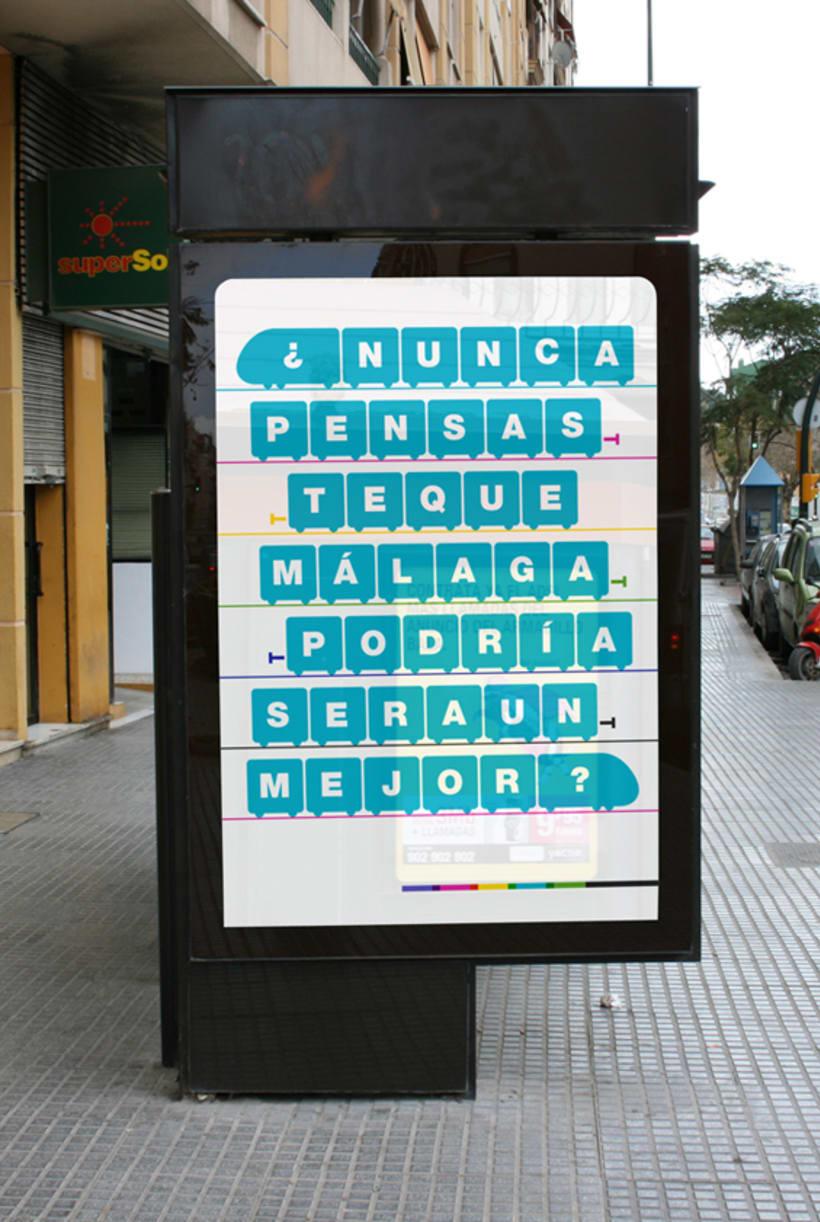 Metro Málaga. Proyecto personal de Marca y Sistema de Identidad. Comunicación y gestión de marca. 2