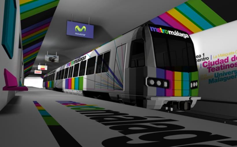 Metro Málaga. Proyecto personal de Marca y Sistema de Identidad. Comunicación y gestión de marca. 6