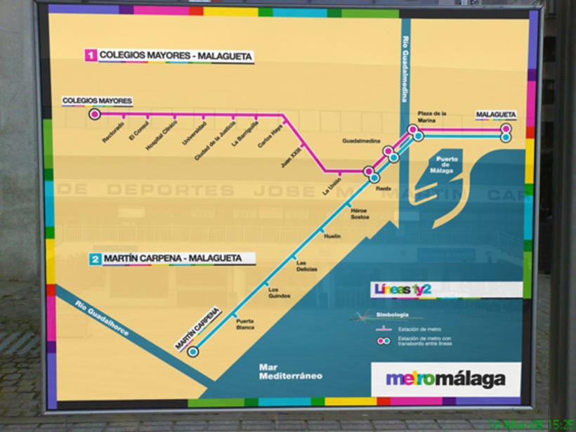 Metro Málaga. Proyecto personal de Marca y Sistema de Identidad. Comunicación y gestión de marca. 12