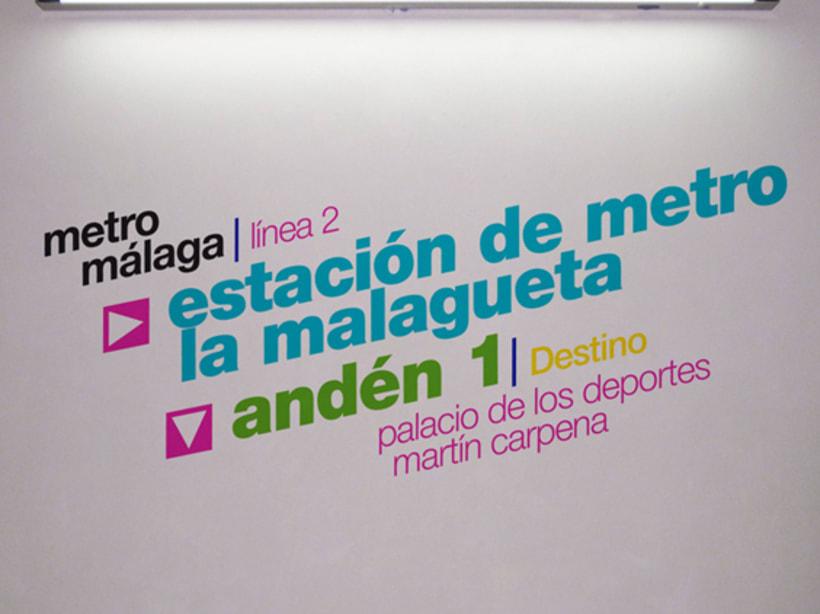 Metro Málaga. Proyecto personal de Marca y Sistema de Identidad. Comunicación y gestión de marca. 9