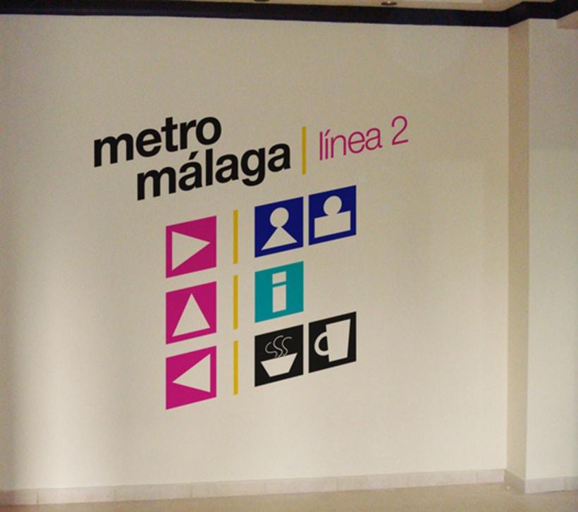 Metro Málaga. Proyecto personal de Marca y Sistema de Identidad. Comunicación y gestión de marca. 10