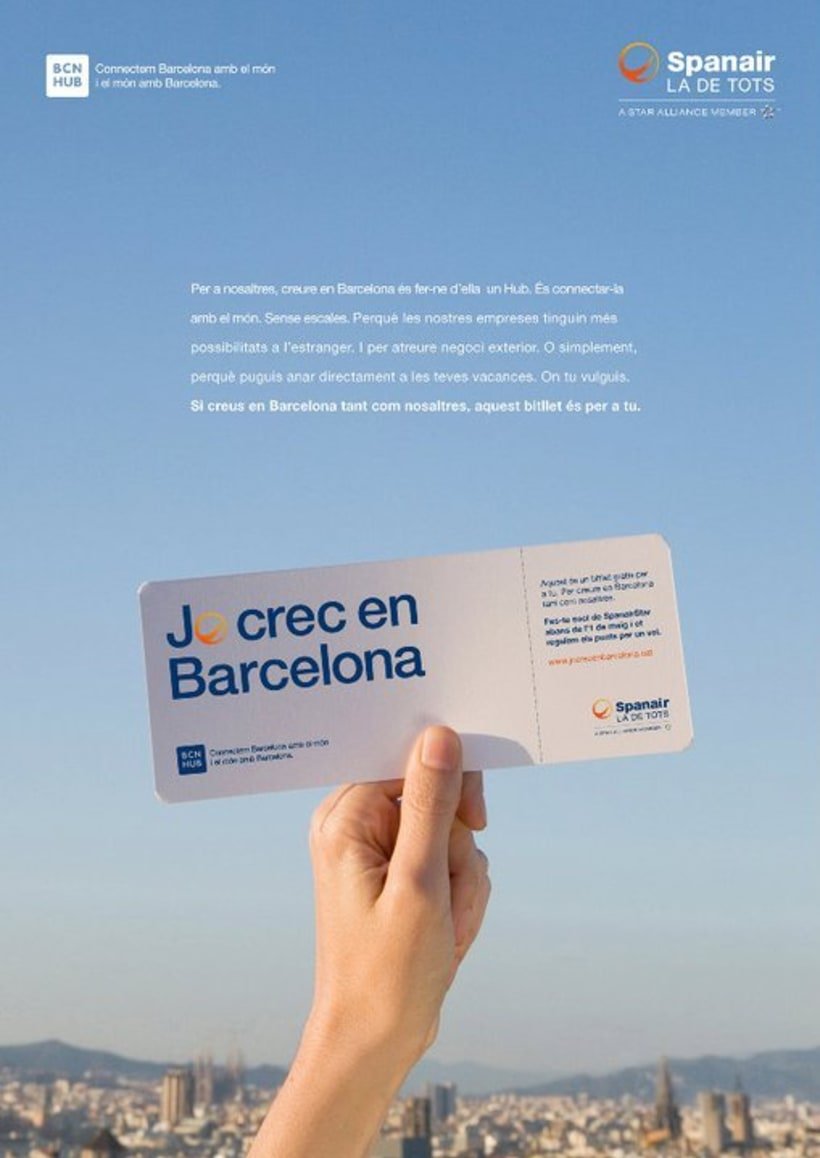 Spanair, Jo crec en Barcelona. 4