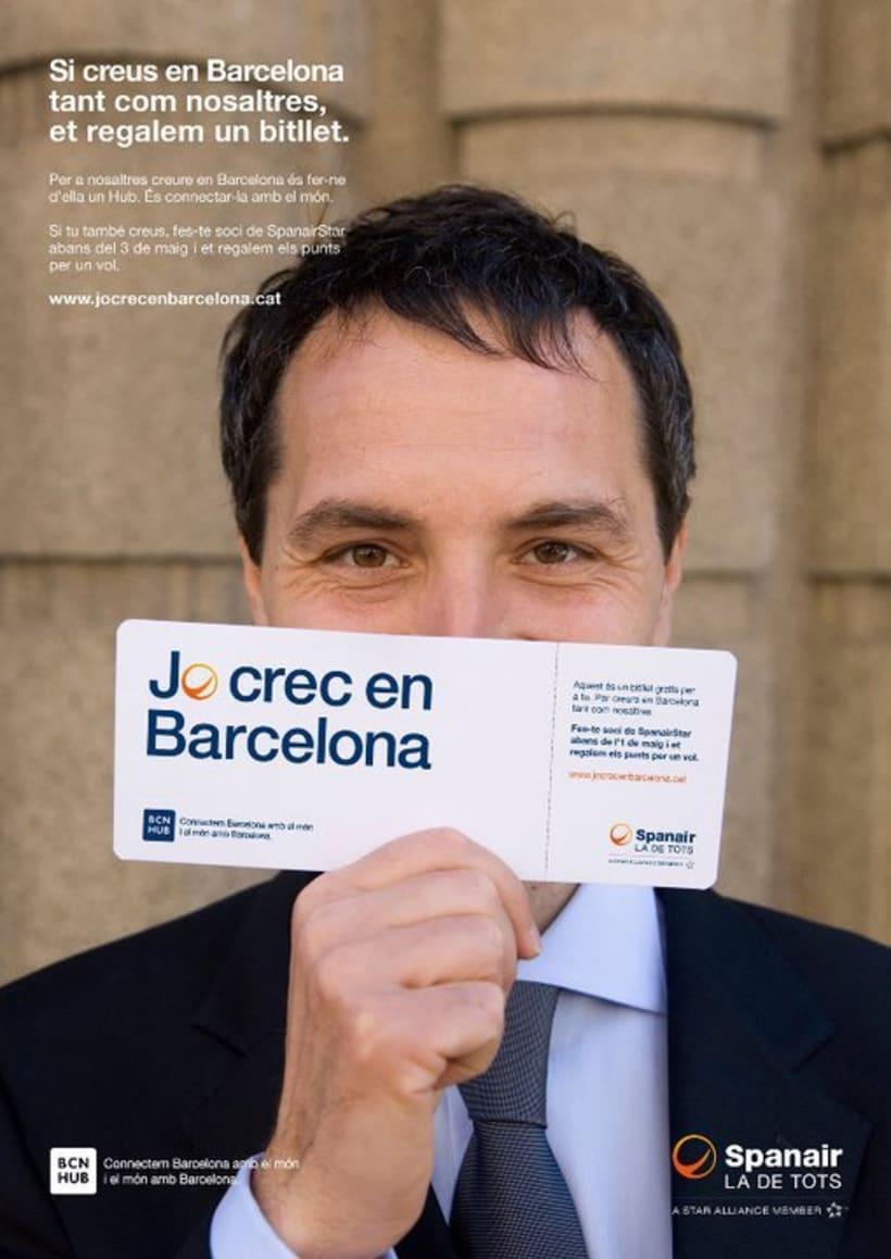 Spanair, Jo crec en Barcelona. 2