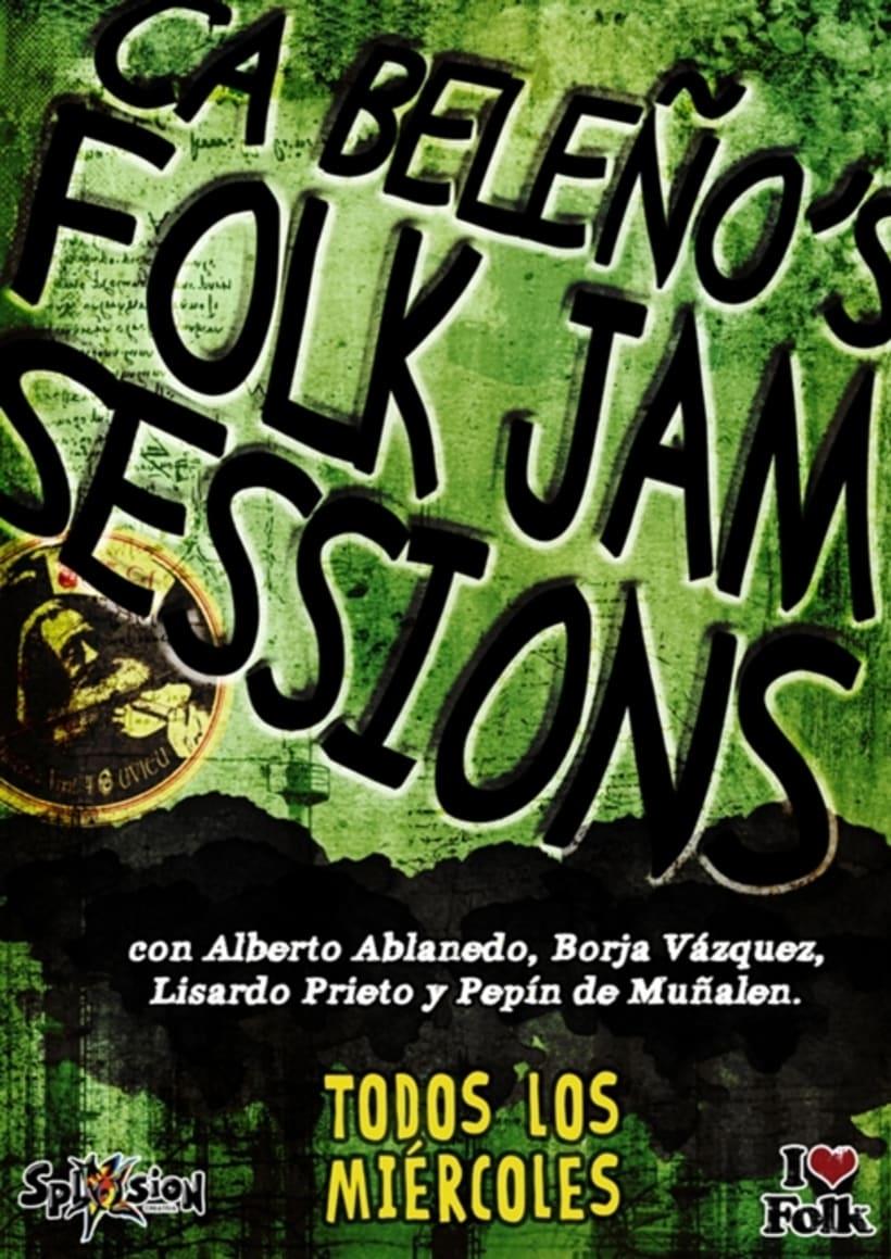 Carteleria de conciertos pub Ca beleño (Oviedo) 10