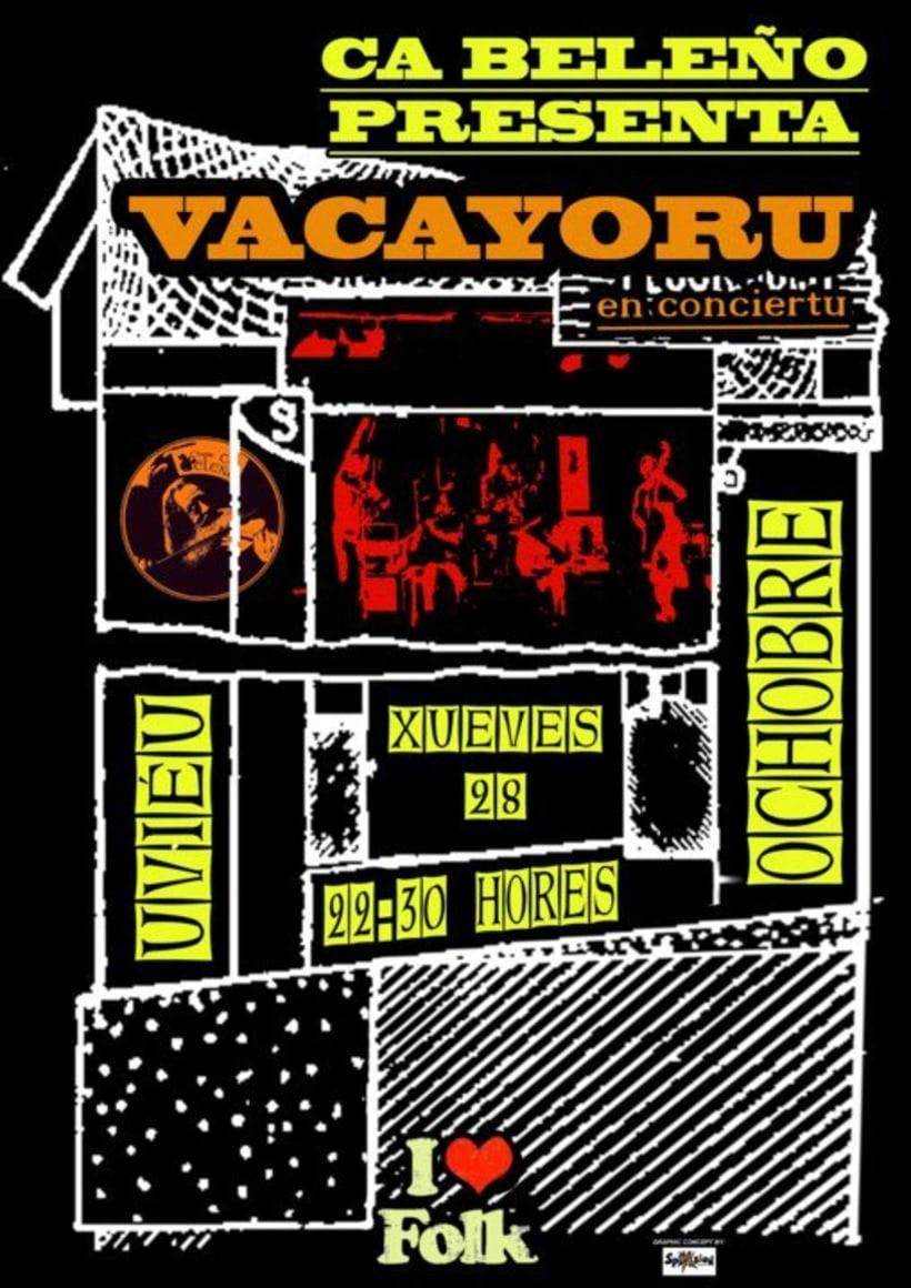 Carteleria de conciertos pub Ca beleño (Oviedo) 8