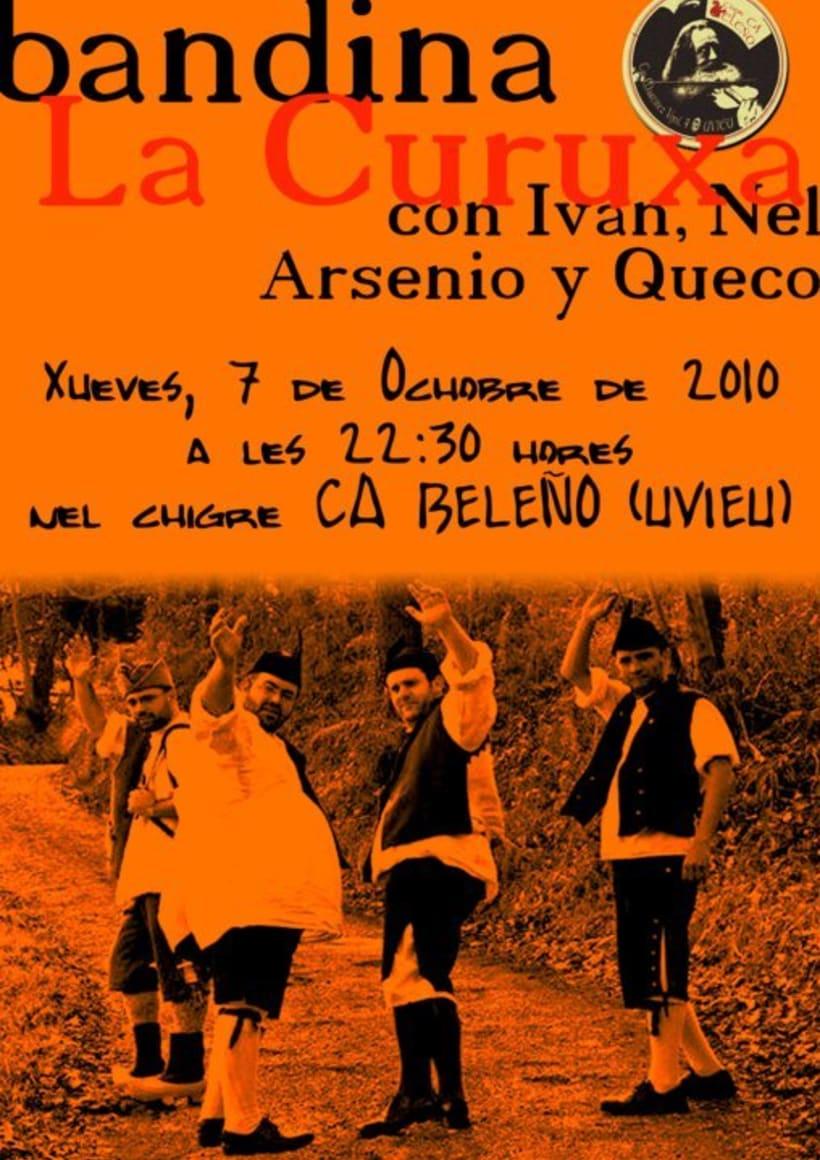 Carteleria de conciertos pub Ca beleño (Oviedo) 7