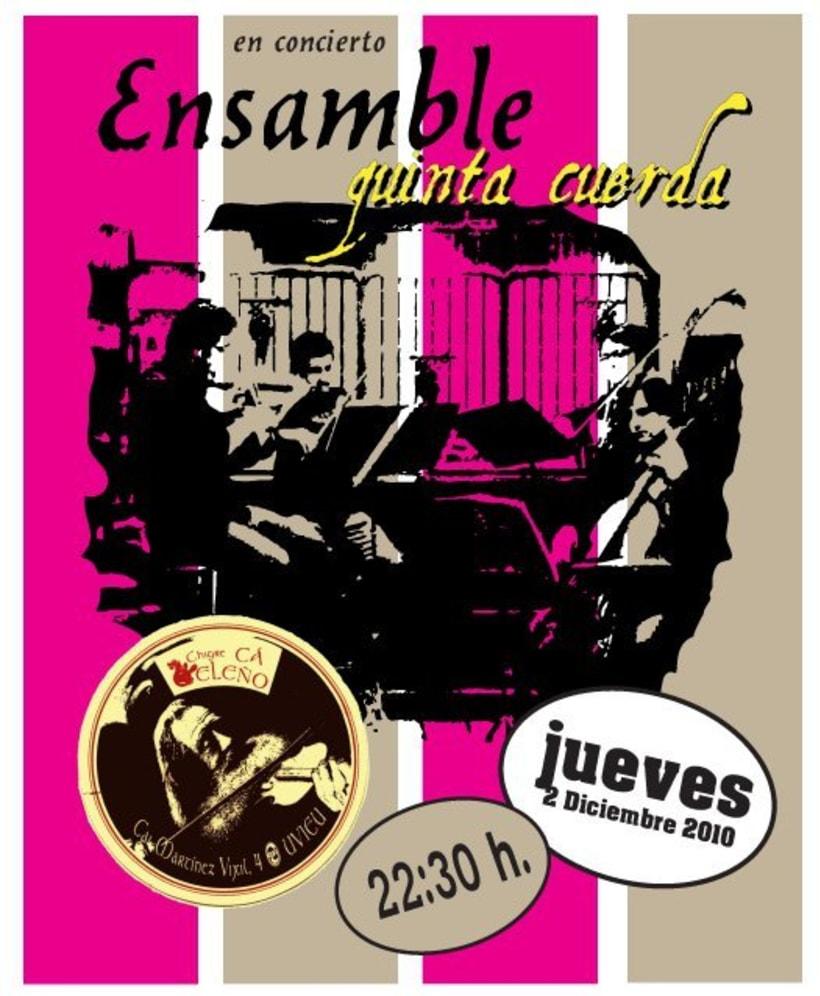 Carteleria de conciertos pub Ca beleño (Oviedo) 6