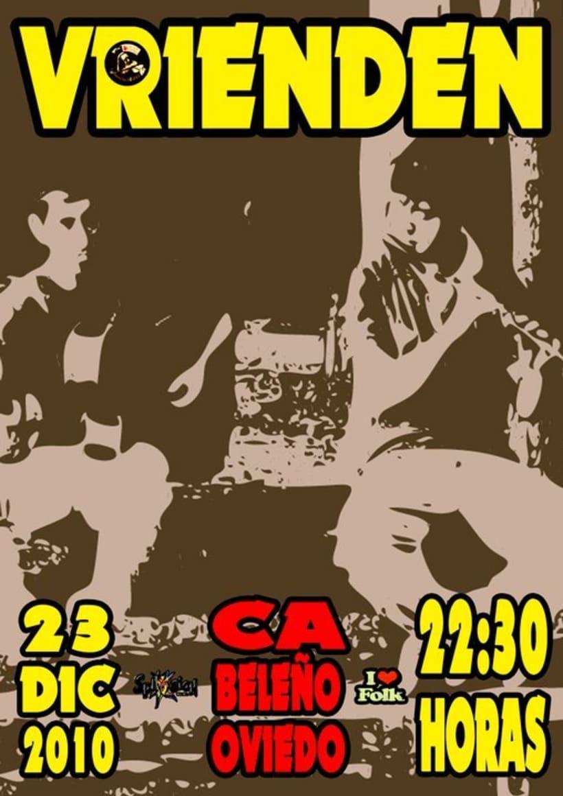 Carteleria de conciertos pub Ca beleño (Oviedo) 5