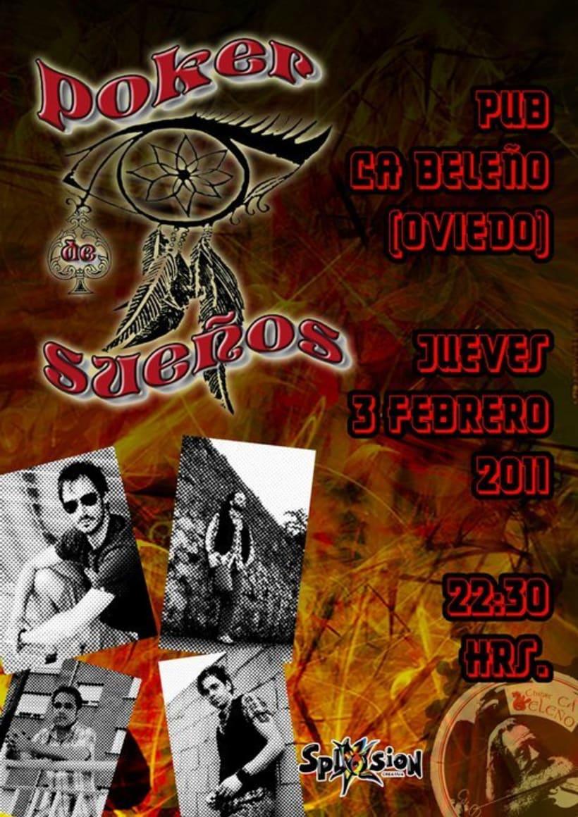 Carteleria de conciertos pub Ca beleño (Oviedo) 3