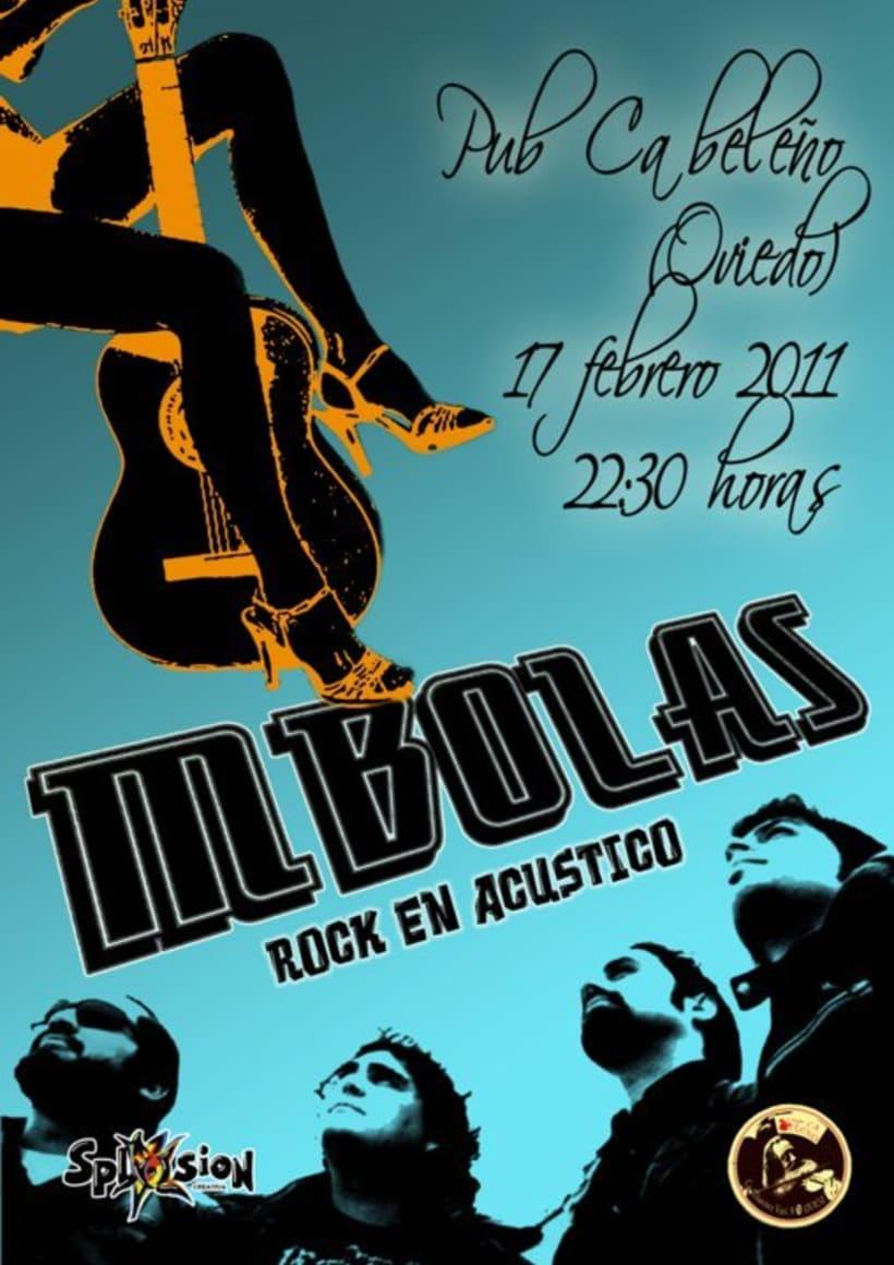 Carteleria de conciertos pub Ca beleño (Oviedo) 2