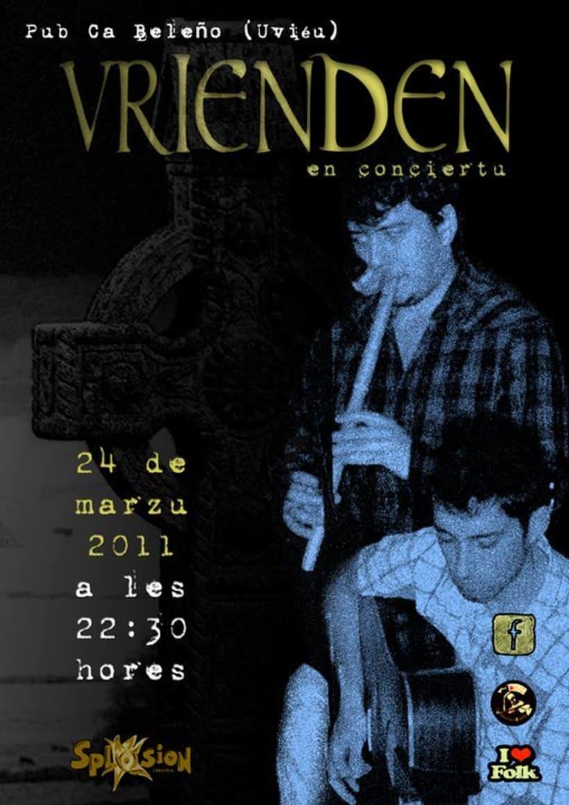 Carteleria de conciertos pub Ca beleño (Oviedo) 1