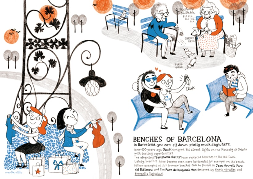 Benches of Barcelona 2
