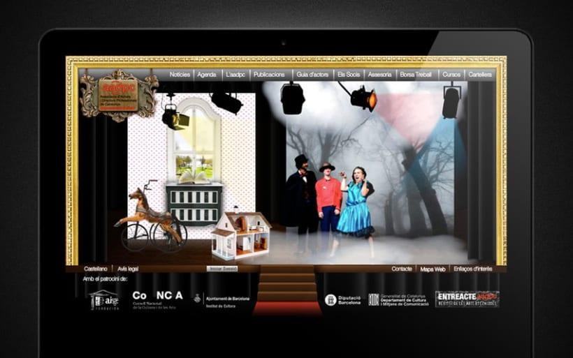 Web de actores y directores de Catalunya 2