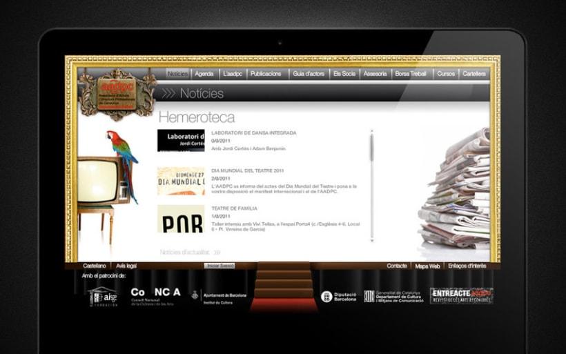 Web de actores y directores de Catalunya 4