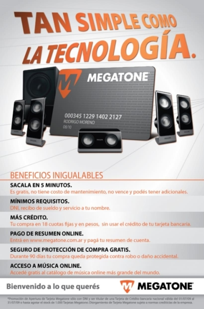 Avisos de campaña para Megatone 2