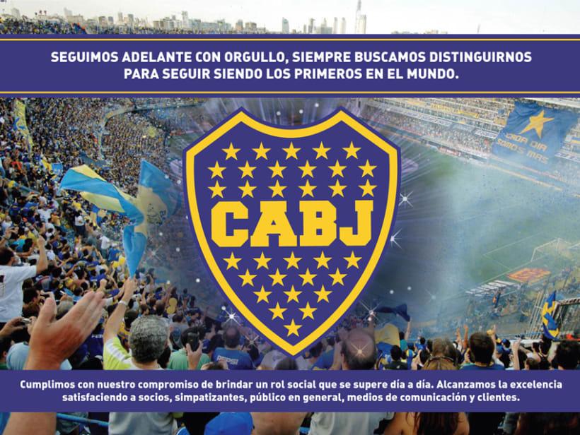 Vía pública para Boca Juniors 1