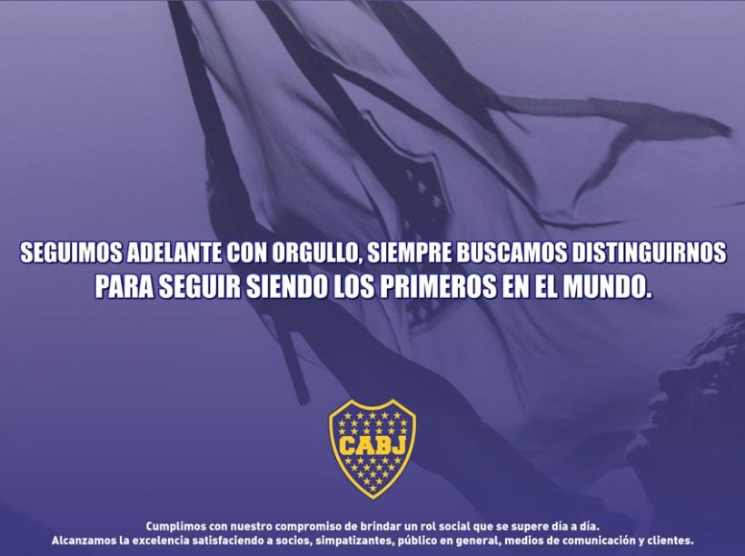 Vía pública para Boca Juniors 2