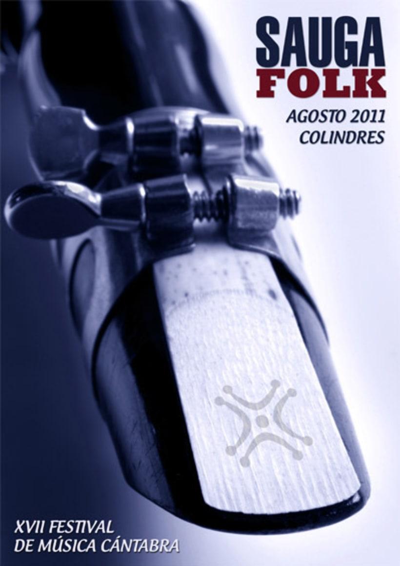 PRIMER PREMIO cartel SAUGA FOLK 2