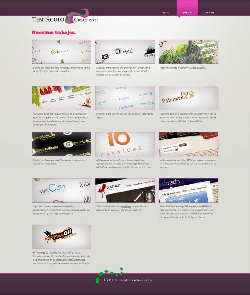 Web Tentáculo Creaciones 3