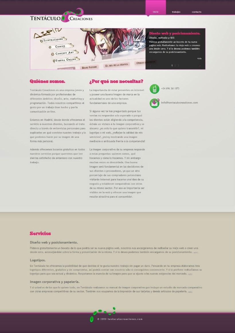 Web Tentáculo Creaciones 2