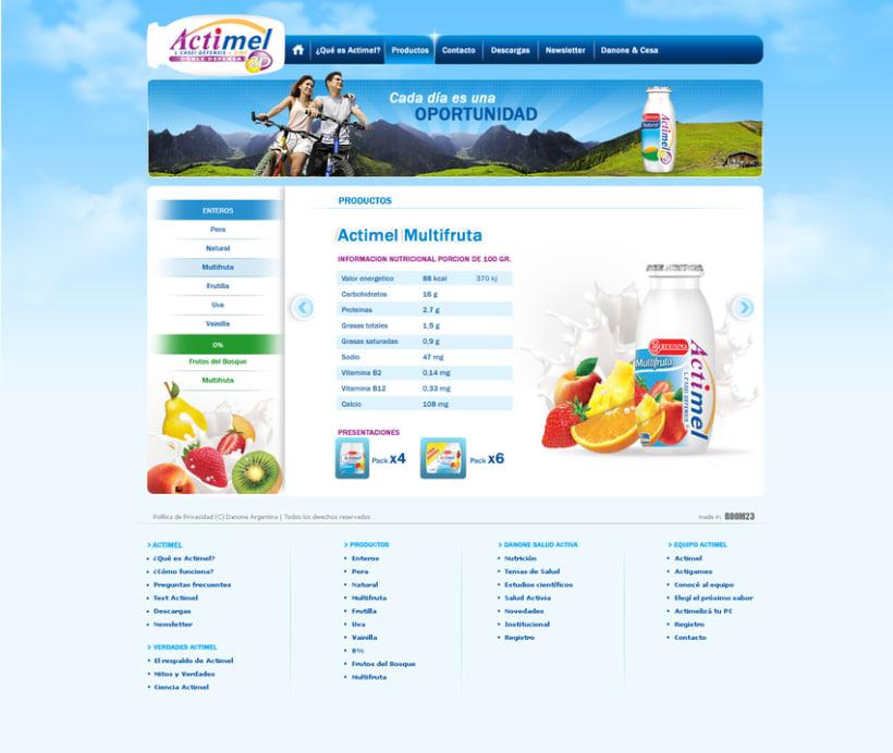 Website Actimel 2