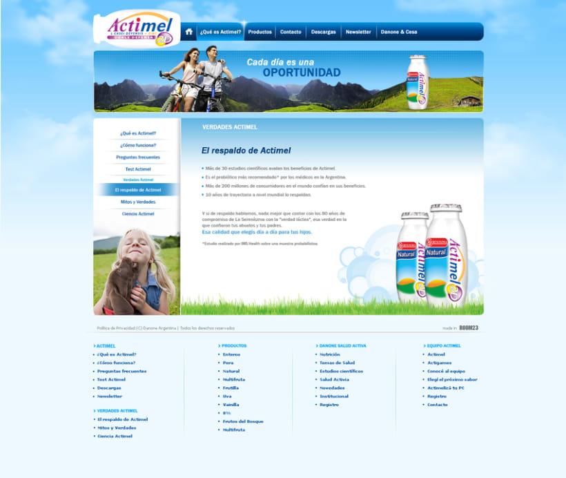 Website Actimel 1