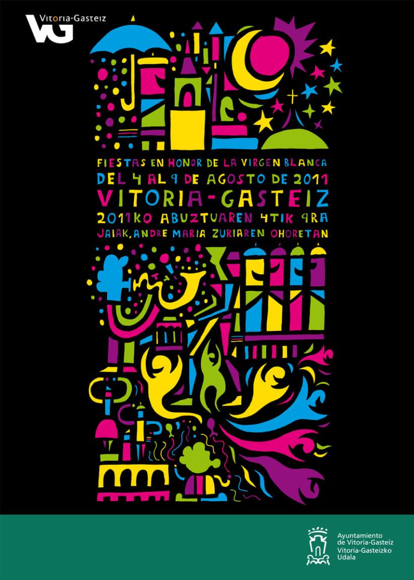 Cartel Fiestas Virgen Blanca Vitoria-Gasteiz 2011 2